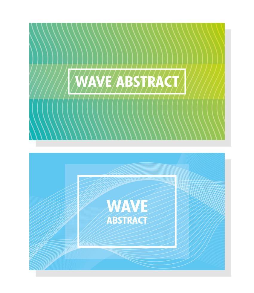 conjunto de fondo ondulado abstracto vector