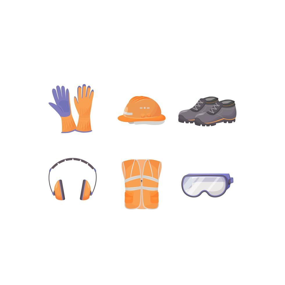 Industrial protective equipment vector