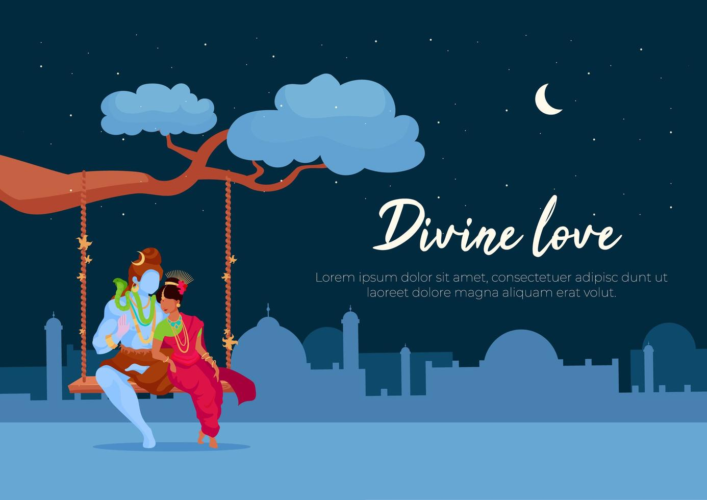 Divine love poster vector