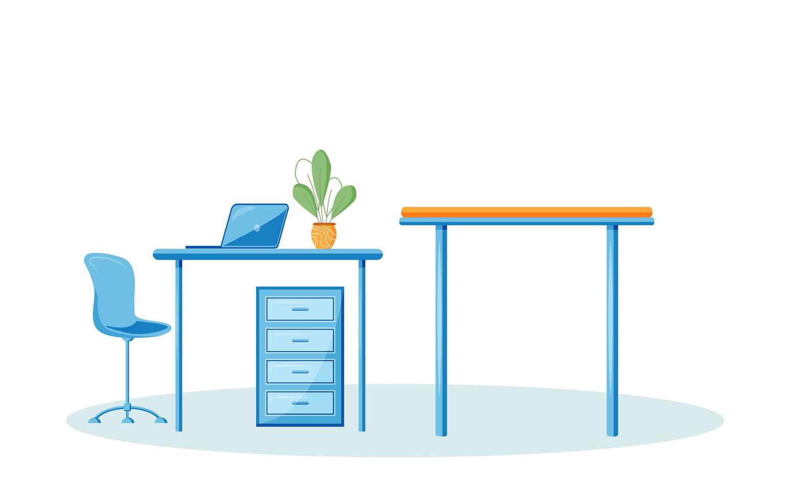 Empty Workplace Items vector