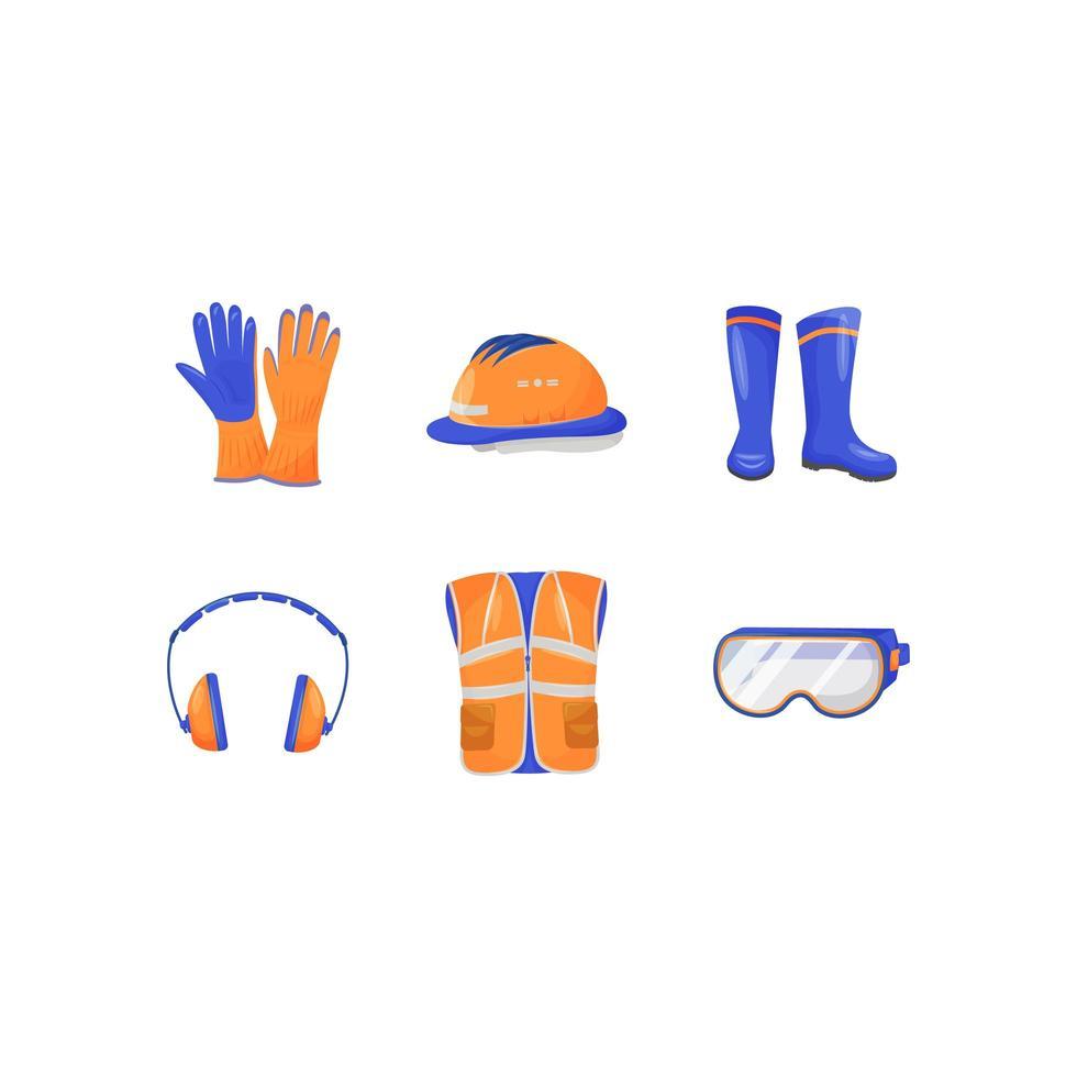 Industrial personal protective equipment vector