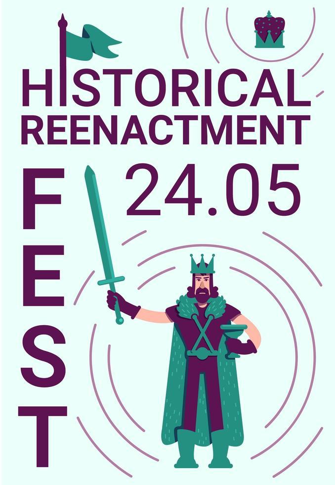 Historical reenactment festival poster vector