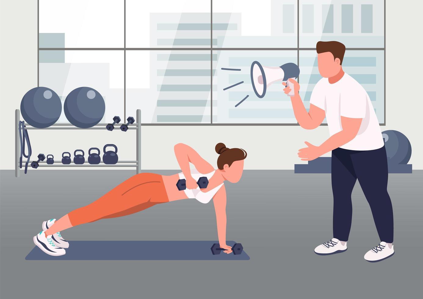 servicio de instructor de fitness vector