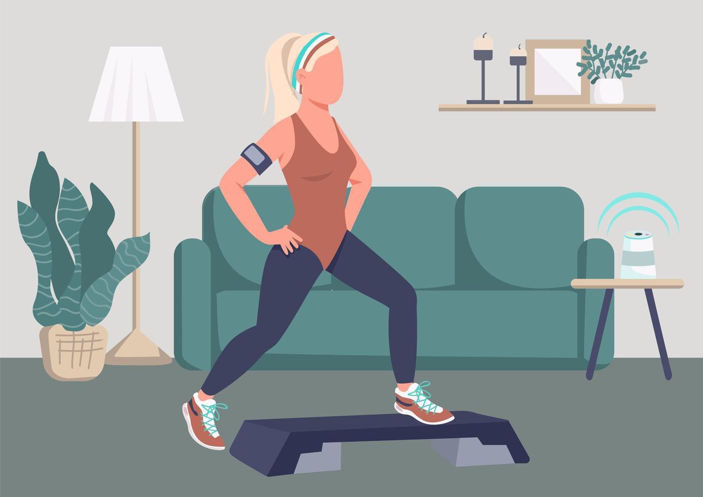 ejercicio step ups vector