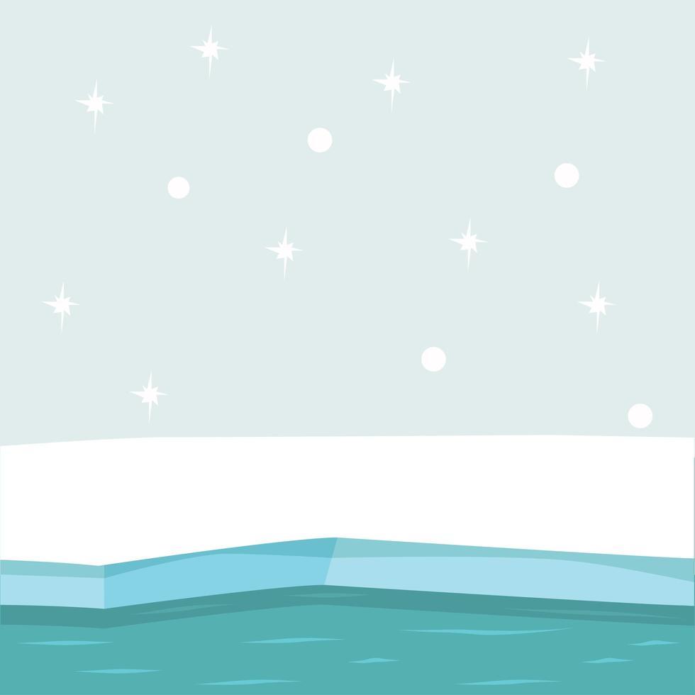 fondo de vector ártico del polo norte