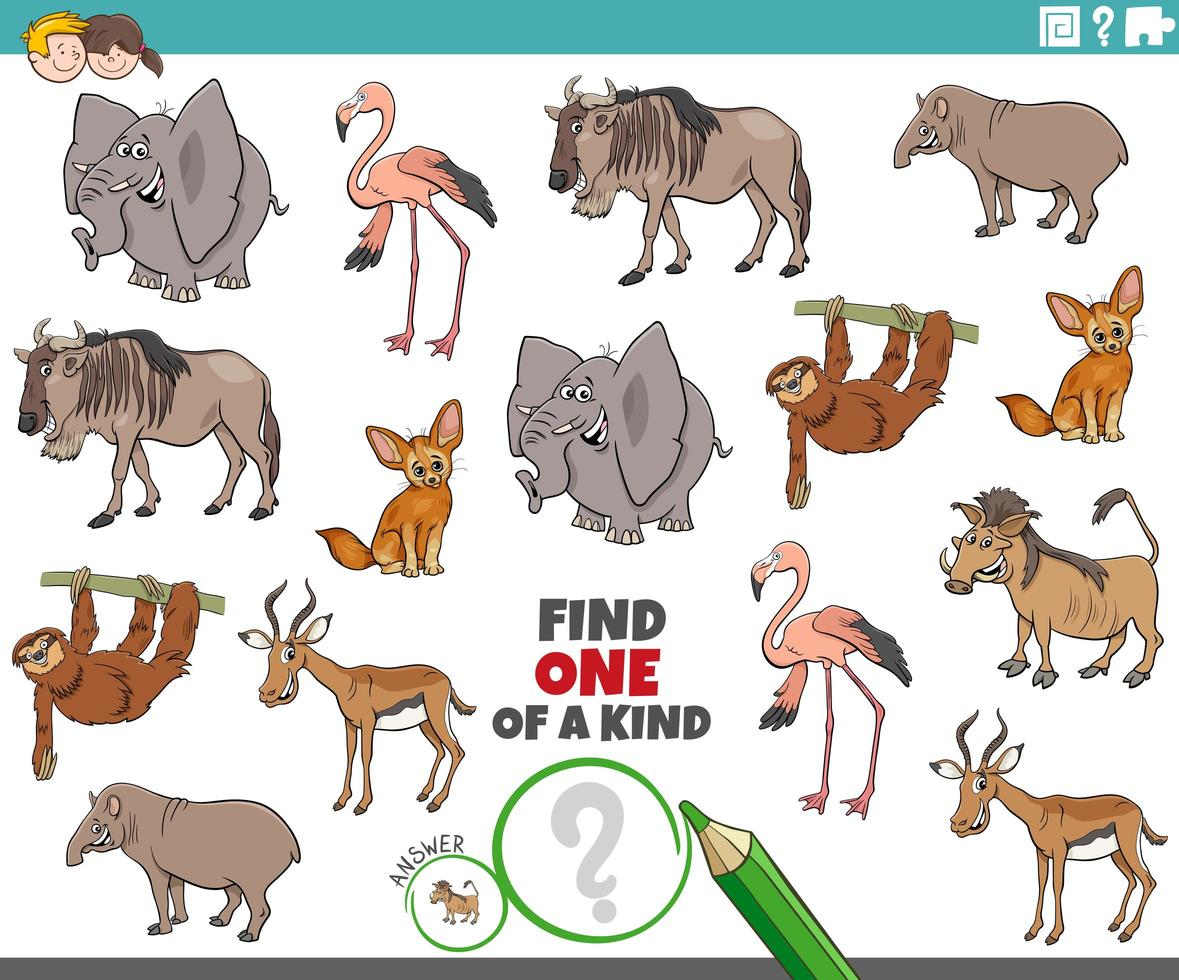 One of a kind task for children vector