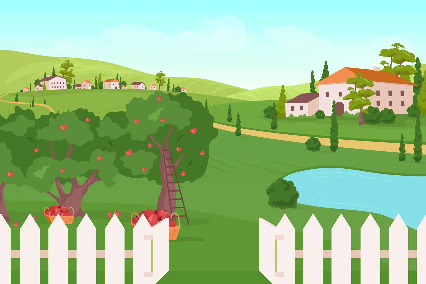 House on Farmland vector