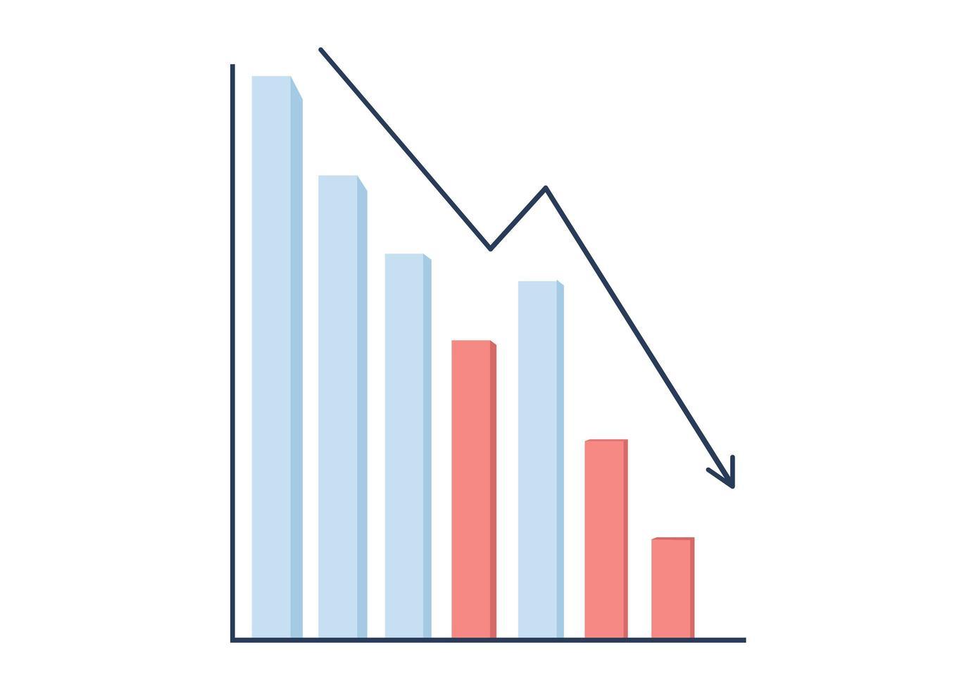 Decreasing bar graph vector