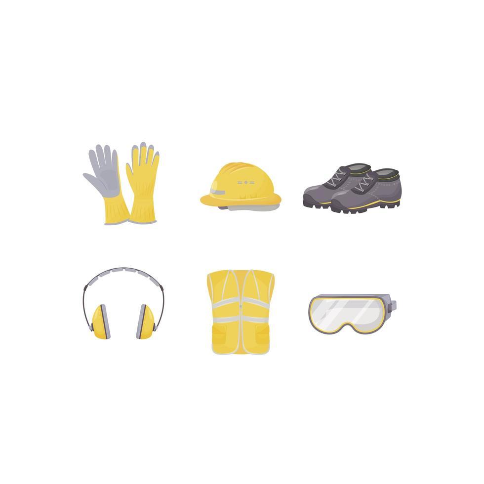 Personal protective equipment set vector