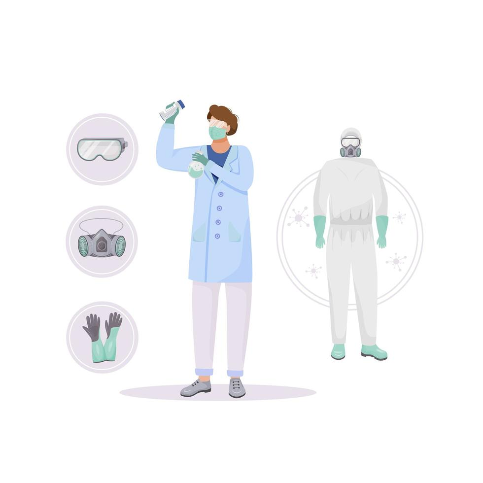 Protective clothing set vector