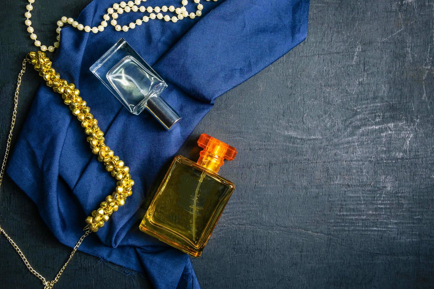 Perfume and jewelry photo