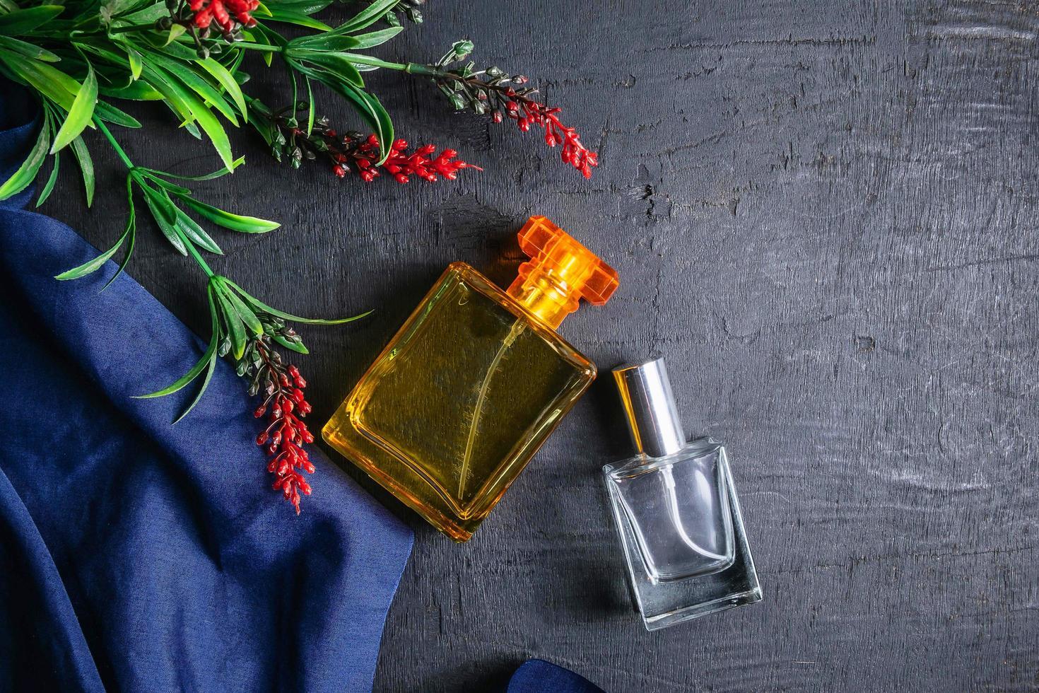 Two perfume bottles photo