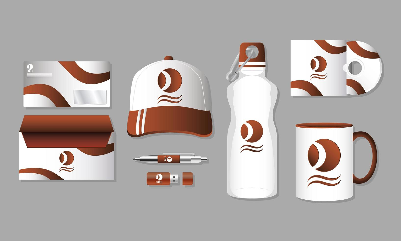 Branding and marketing mock-up set vector
