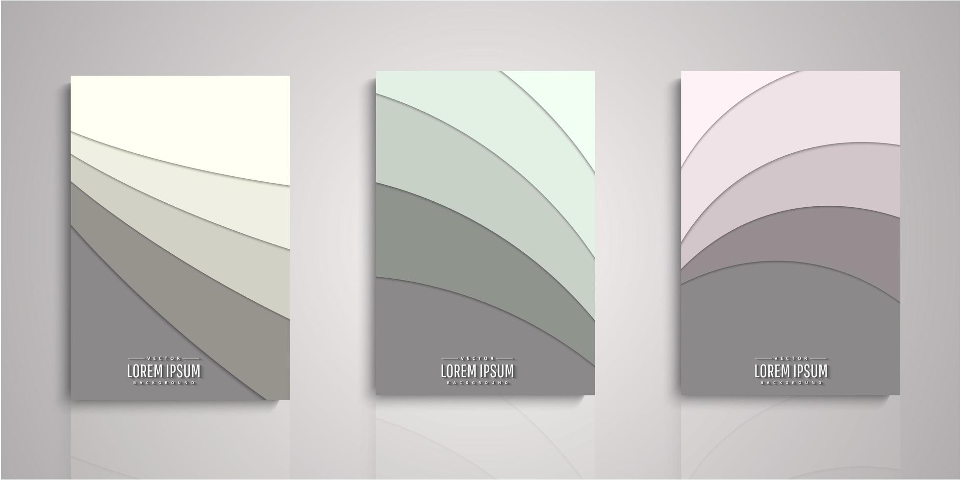 Set of paper cut layers covers vector