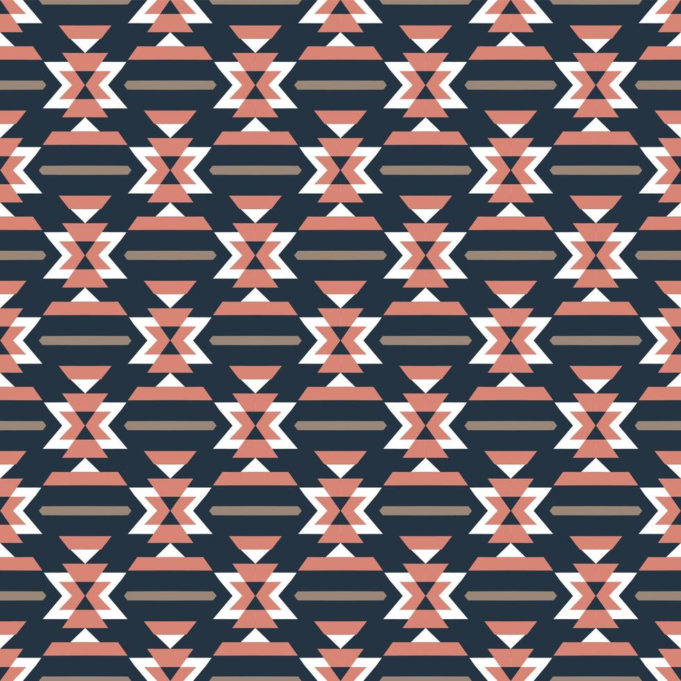 Aztec colorful seamless pattern vector