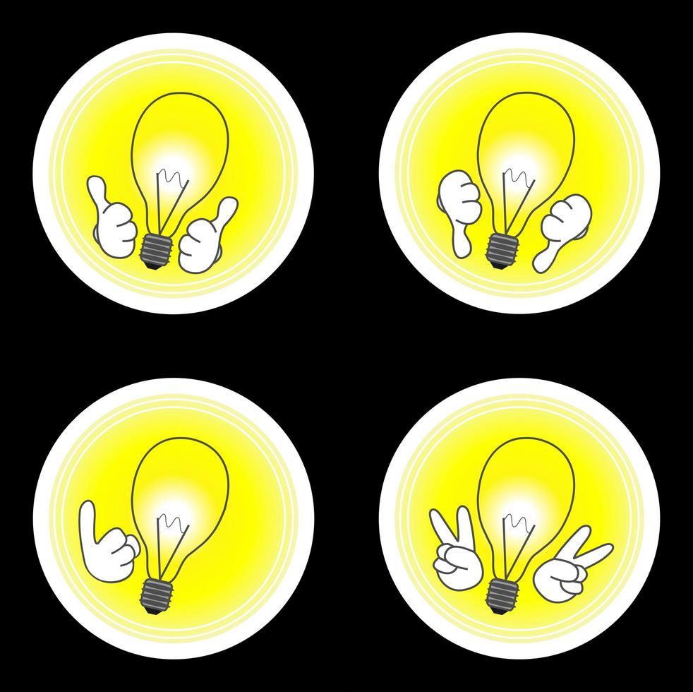 conjunto de iconos de idea vector