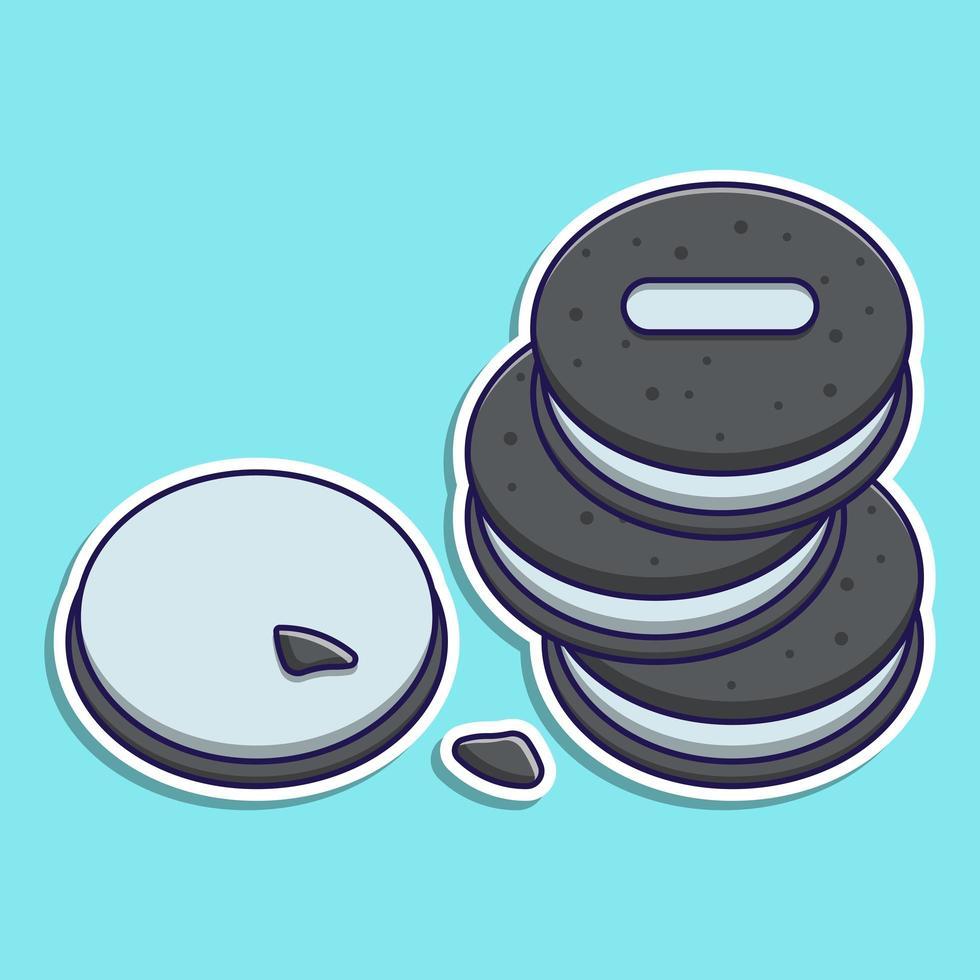 galletas de chocolate de dibujos animados lindo vector