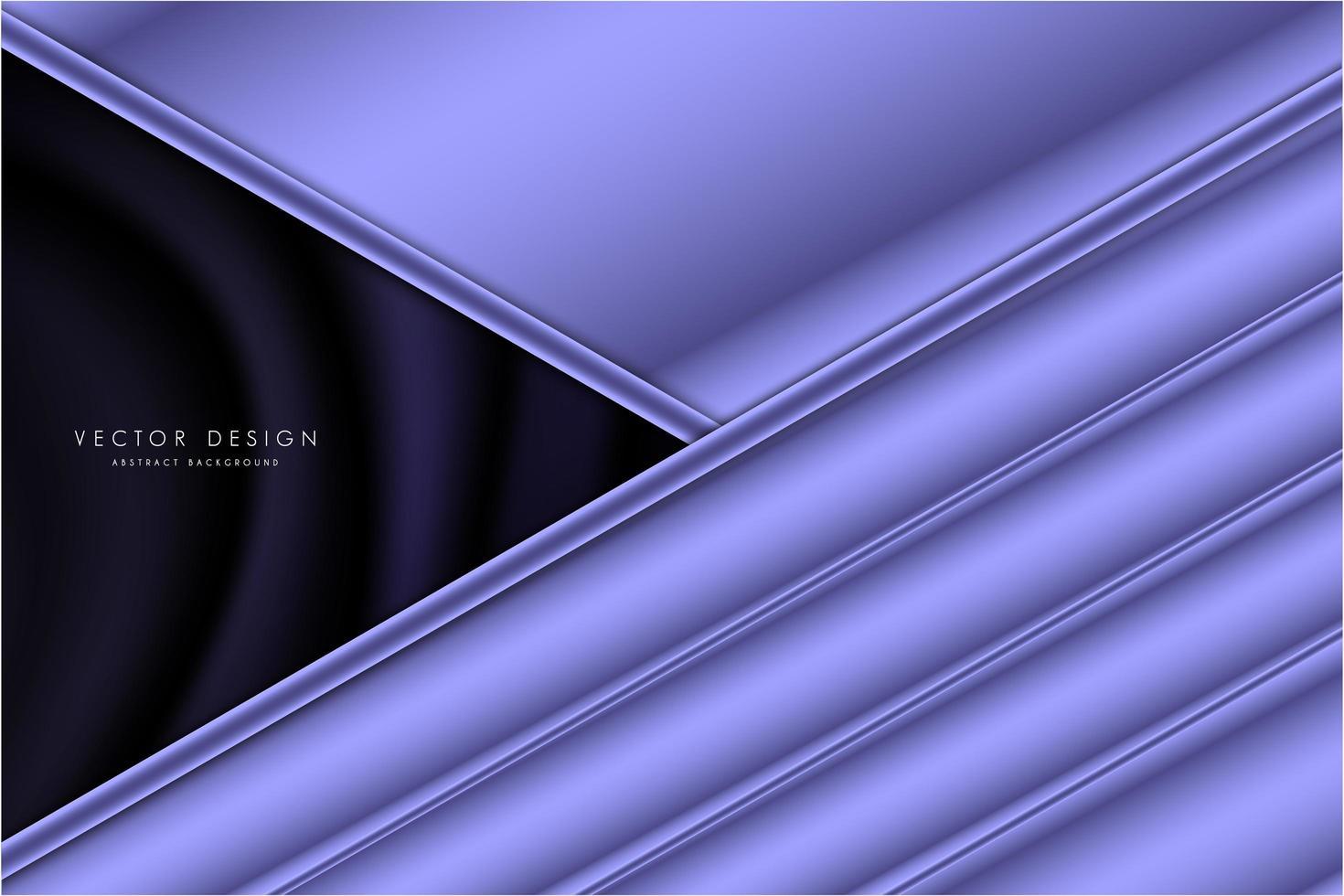 Paneles en ángulo de color púrpura metálico con espacio oscuro de seda vector