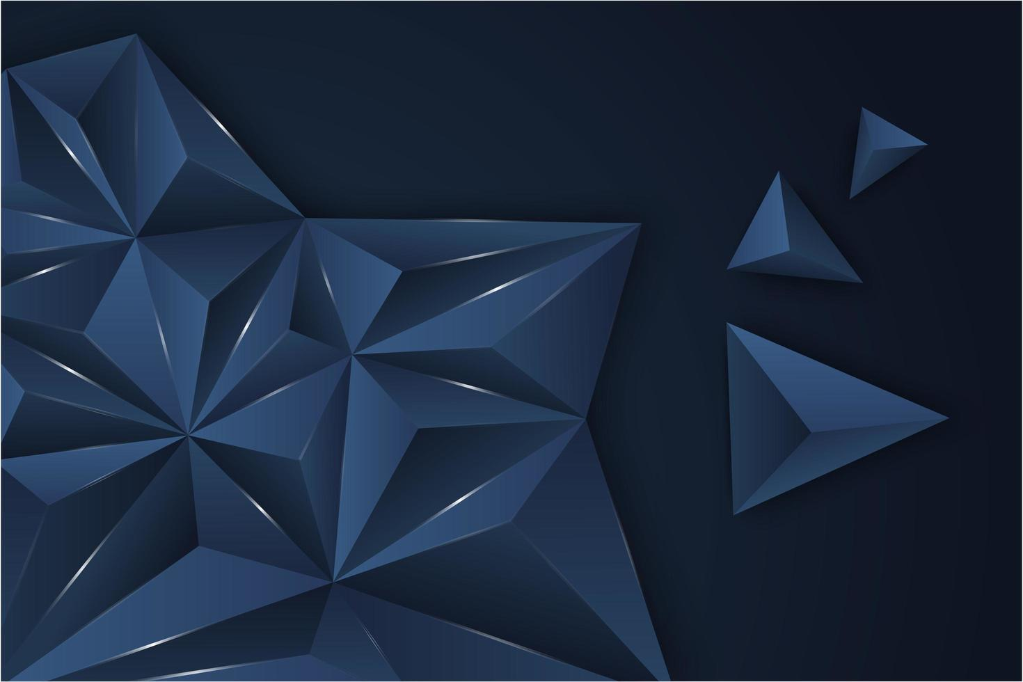 Fondo de triángulo azul metálico. vector