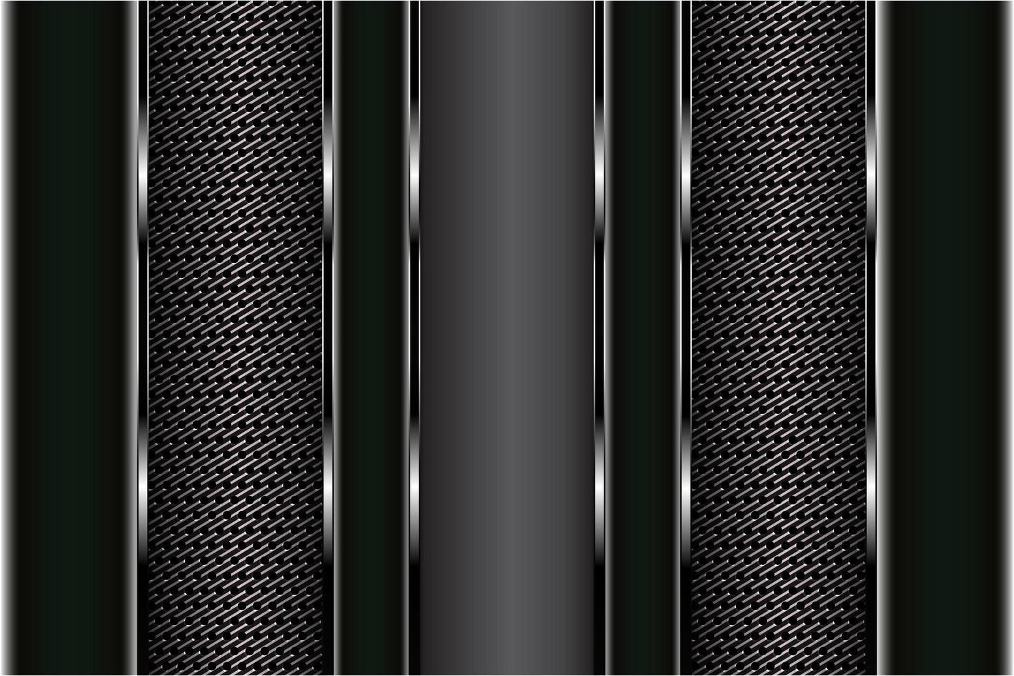 Paneles con textura de fibra de carbono y negro metalizado vector