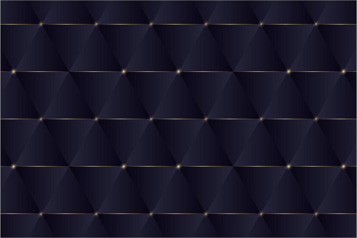 triángulos azules y líneas doradas de diseño moderno. vector