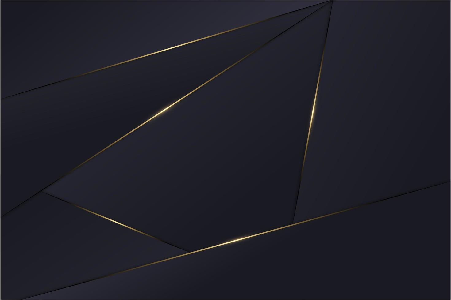 Blue metallic layers polygonal background. vector