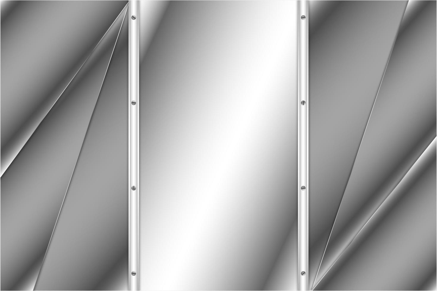 Diseño moderno de metal de lujo plateado metálico. vector