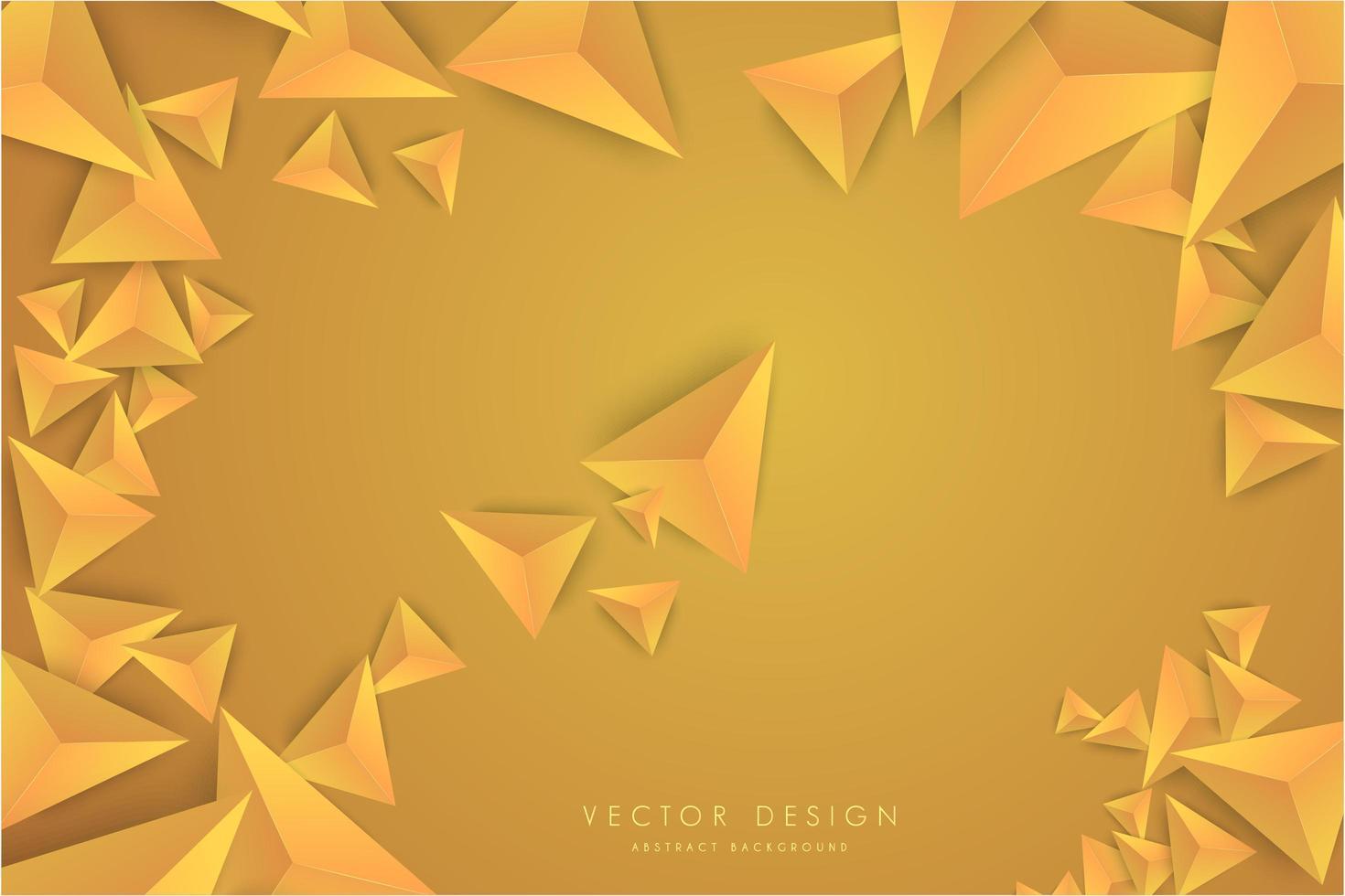 Orange gradient 3d triangles modern design. vector