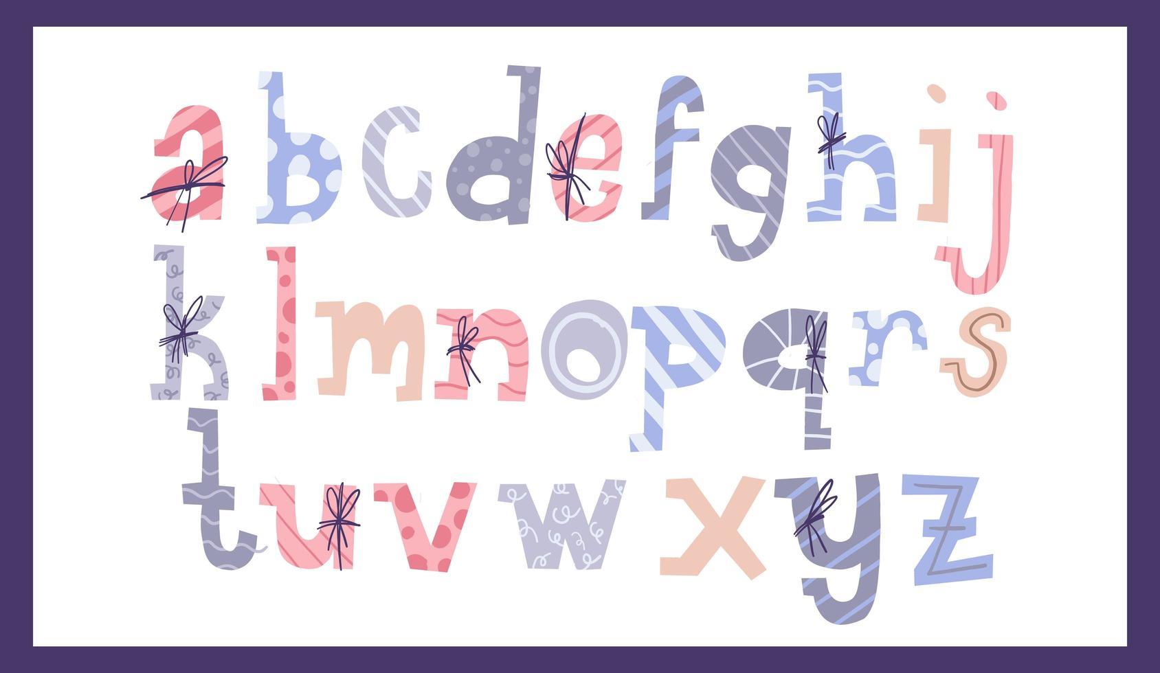 Cute Christmas alphabet vector
