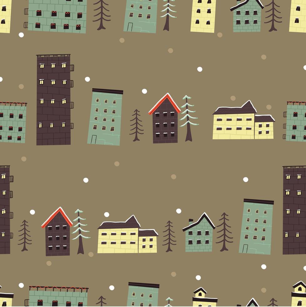 patrón de casa de navidad vector