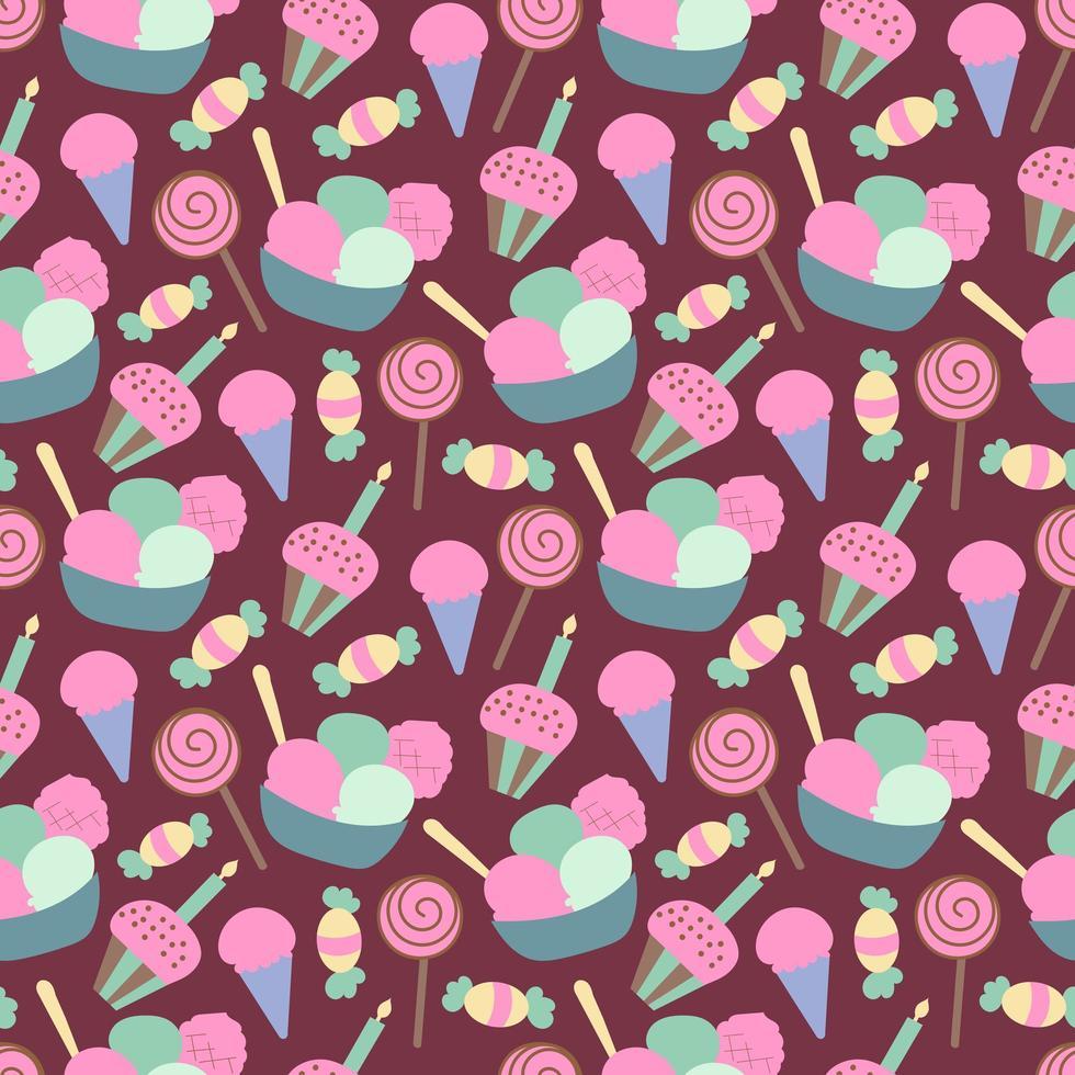 feliz cumpleaños de patrones sin fisuras vector