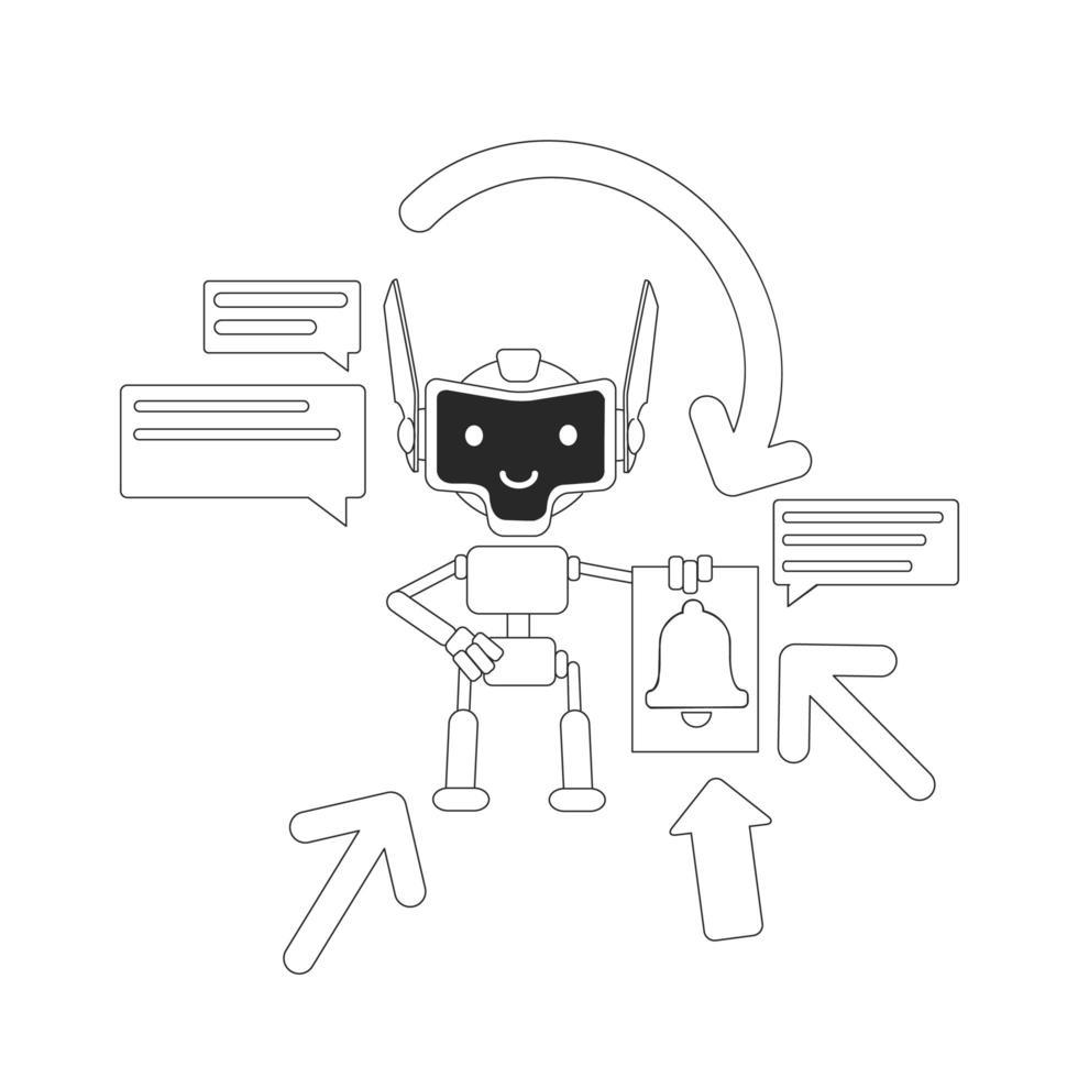 diseño de bot agregador vector