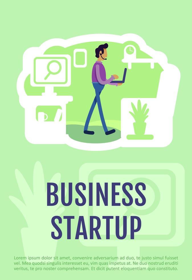 cartel de inicio de negocios vector
