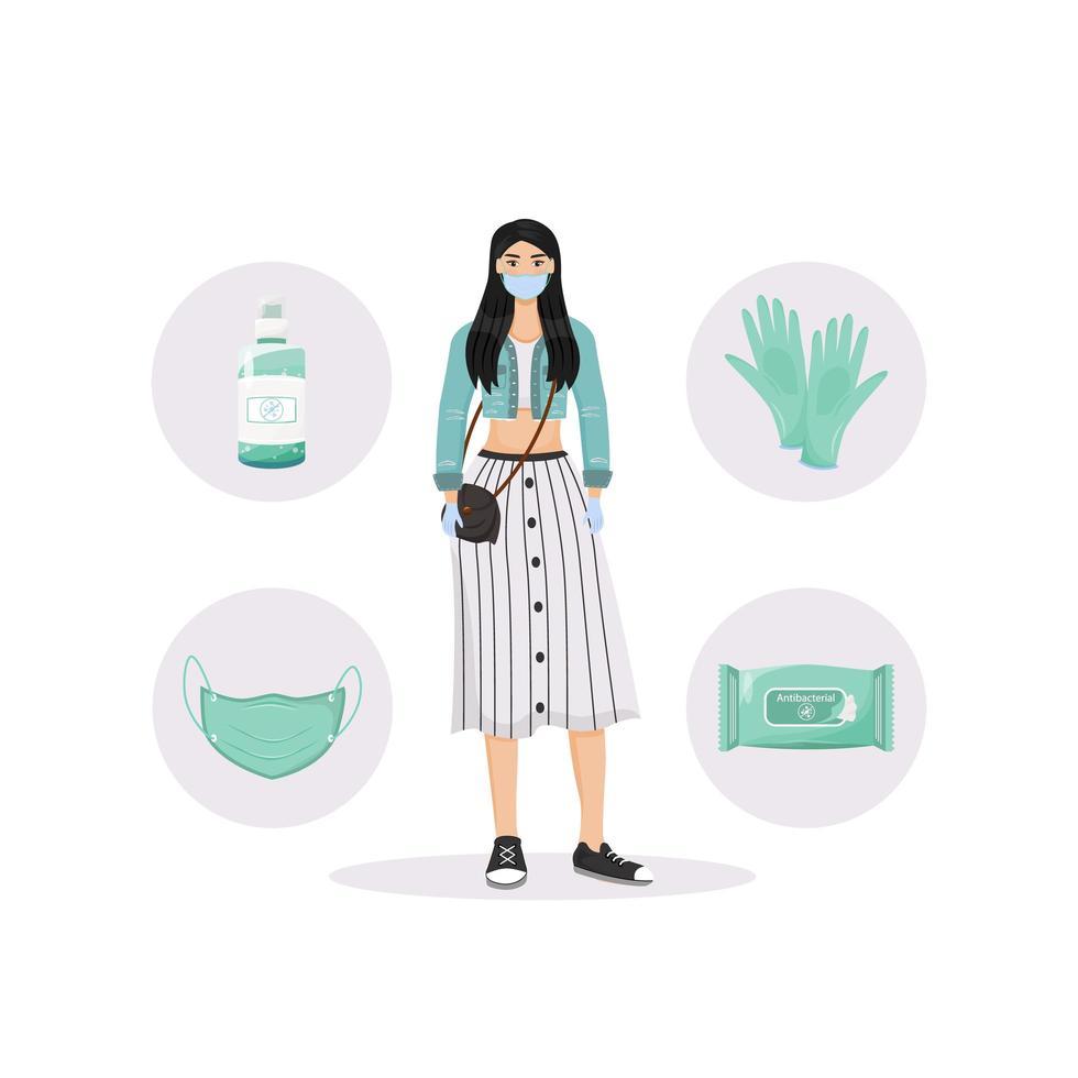 Personal hygiene set vector
