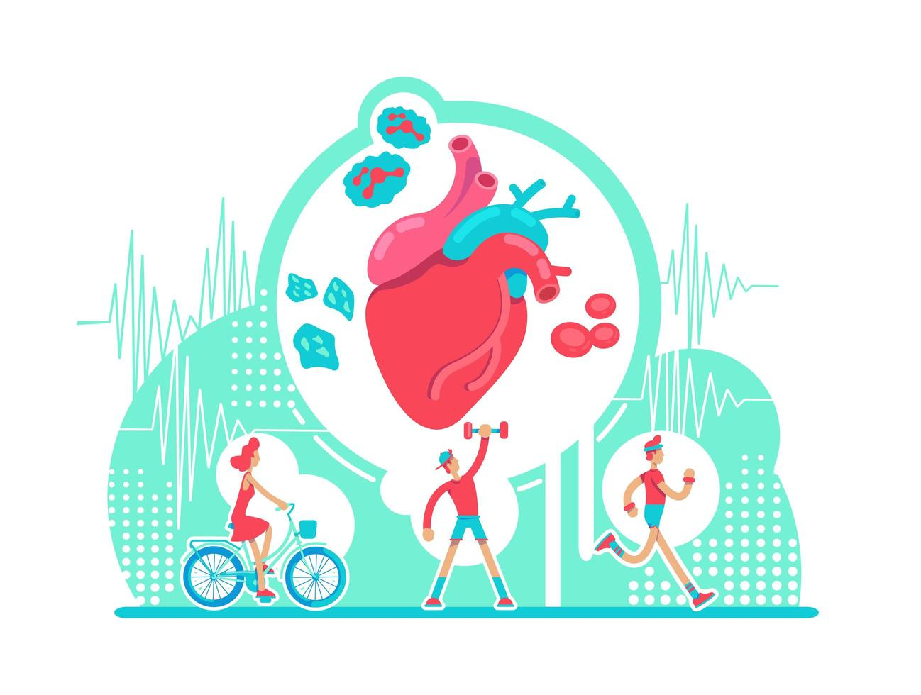 cuidado de la salud del sistema cardiovascular vector