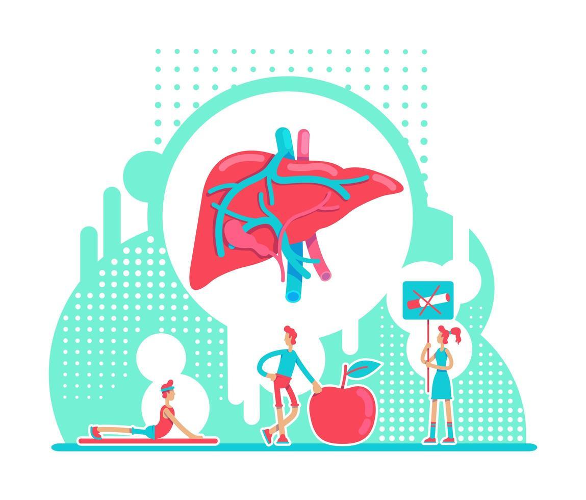 laboratorio de salud del hígado vector