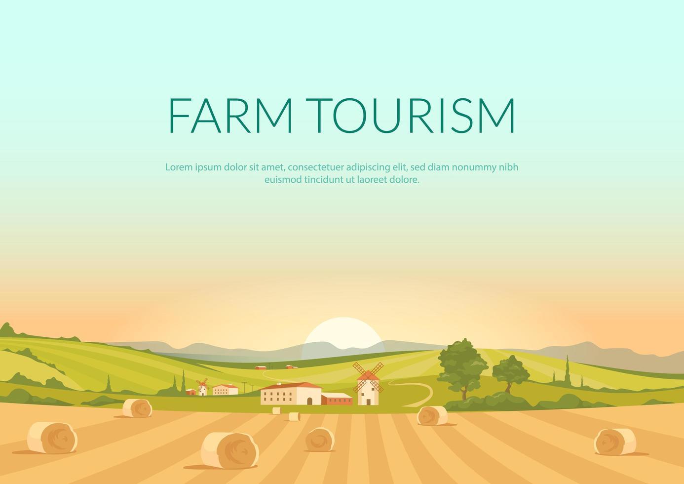 cartel de turismo agrícola vector