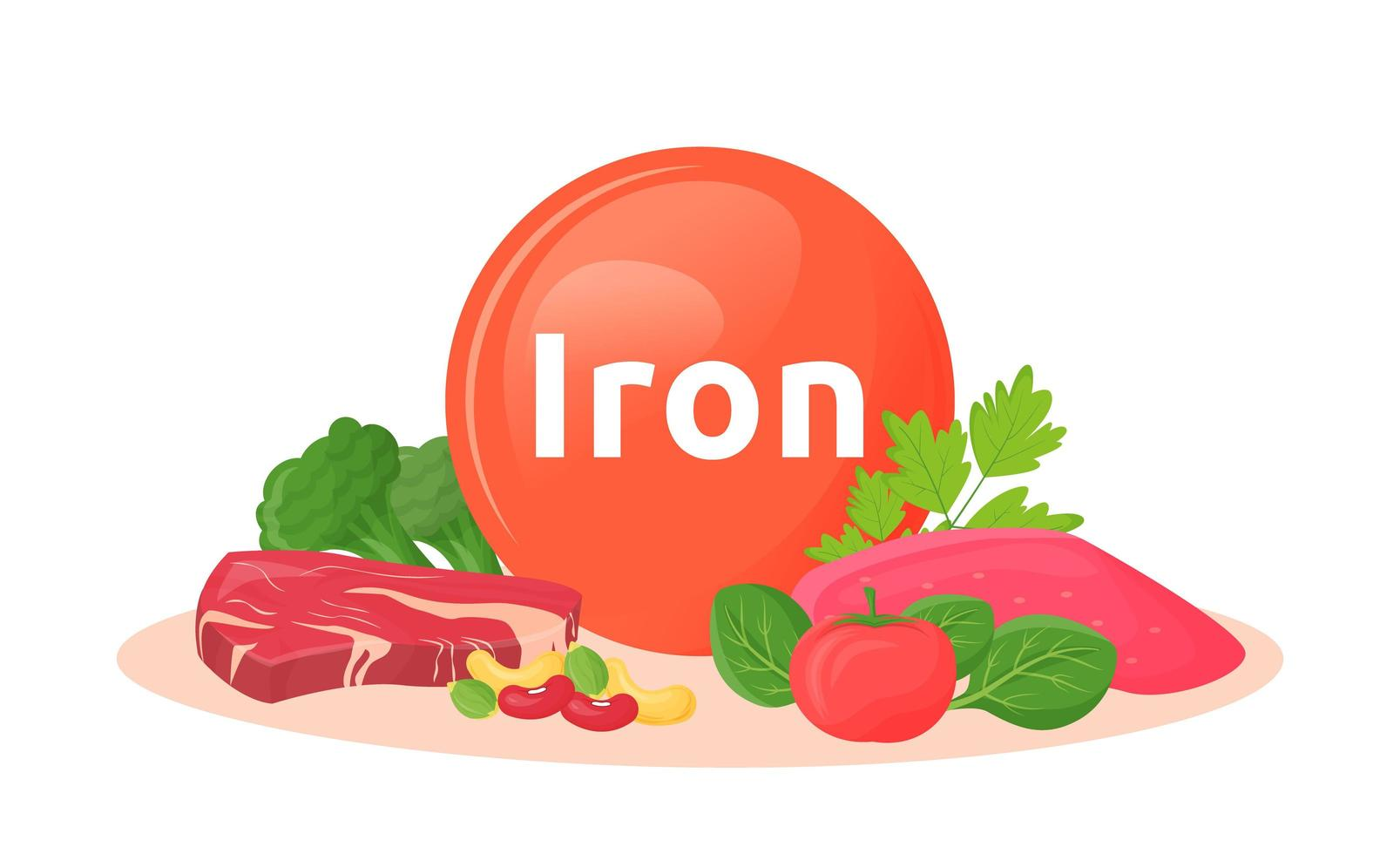 productos que contienen hierro vector