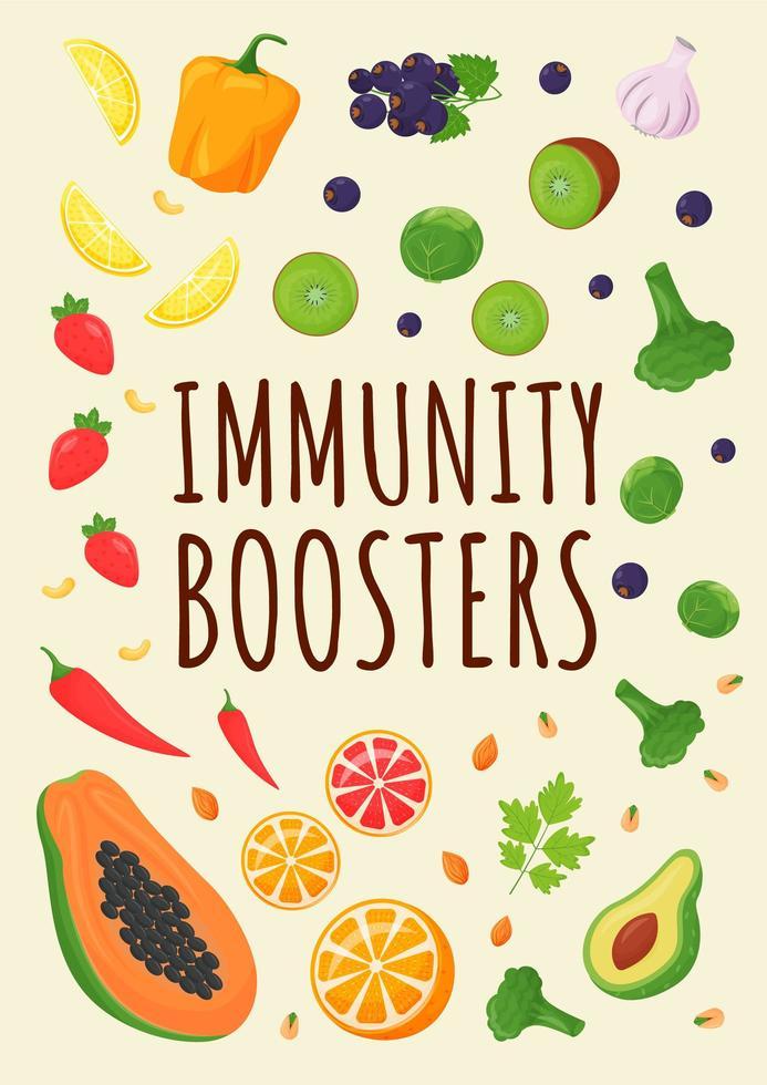 cartel de refuerzo de inmunidad vector