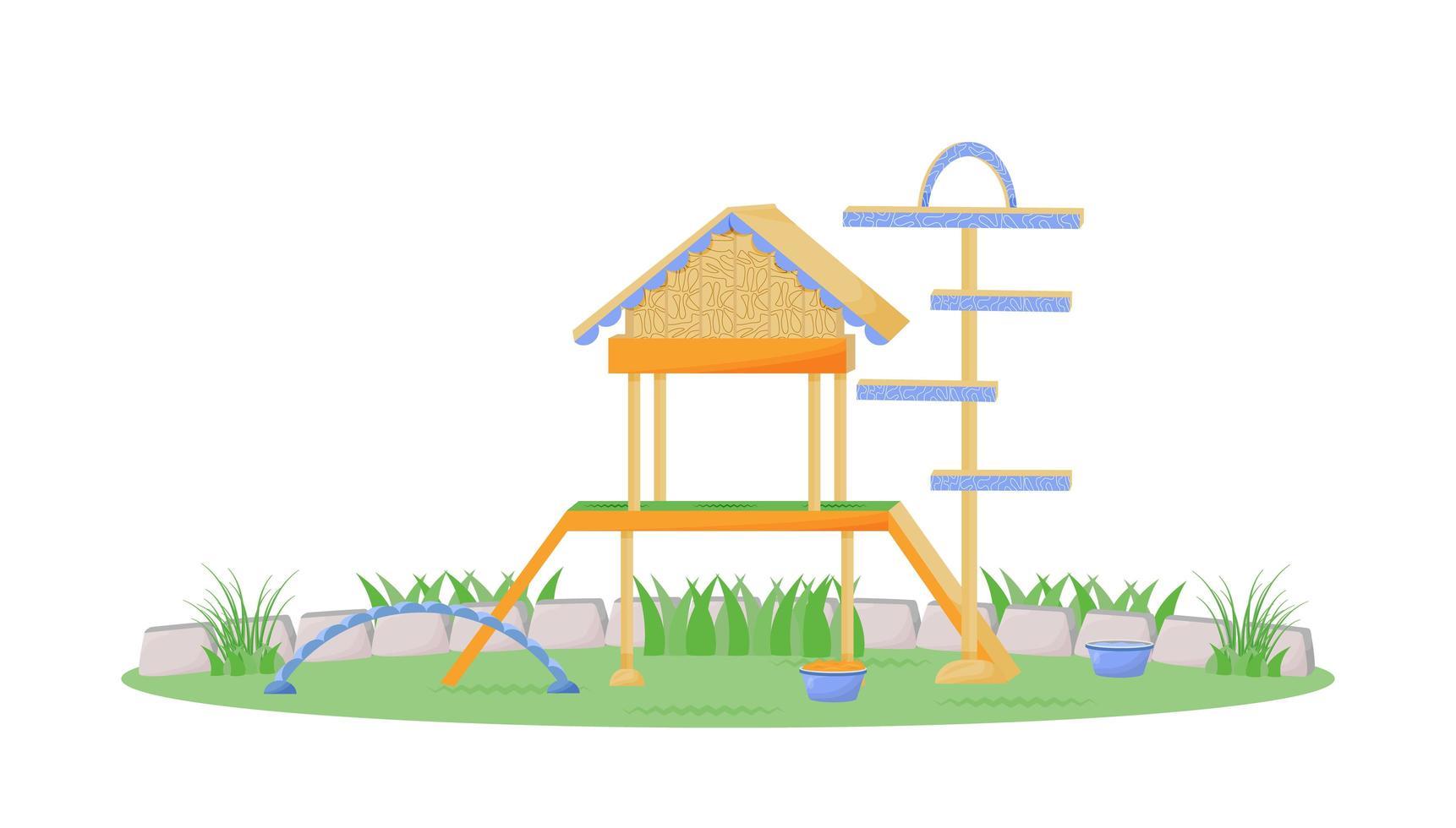 casa de juegos en el parque vector