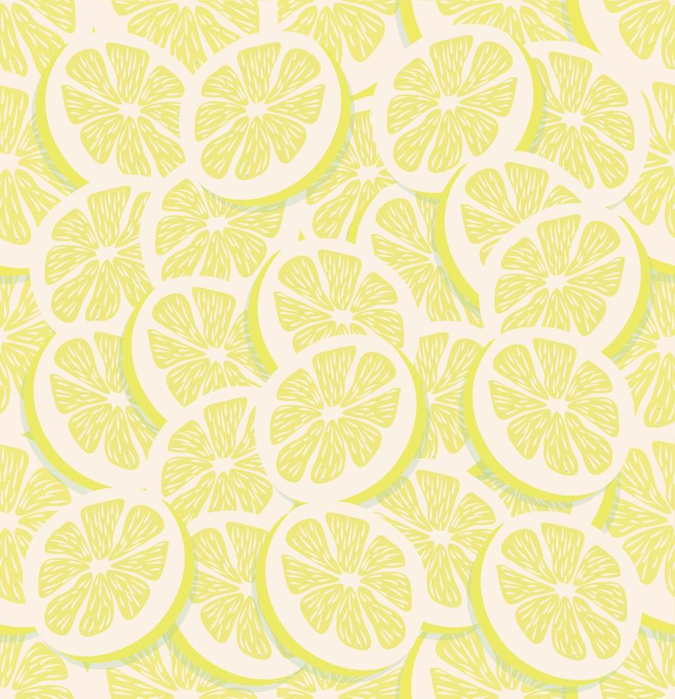 rodaja fresca de un limón sin costura vector