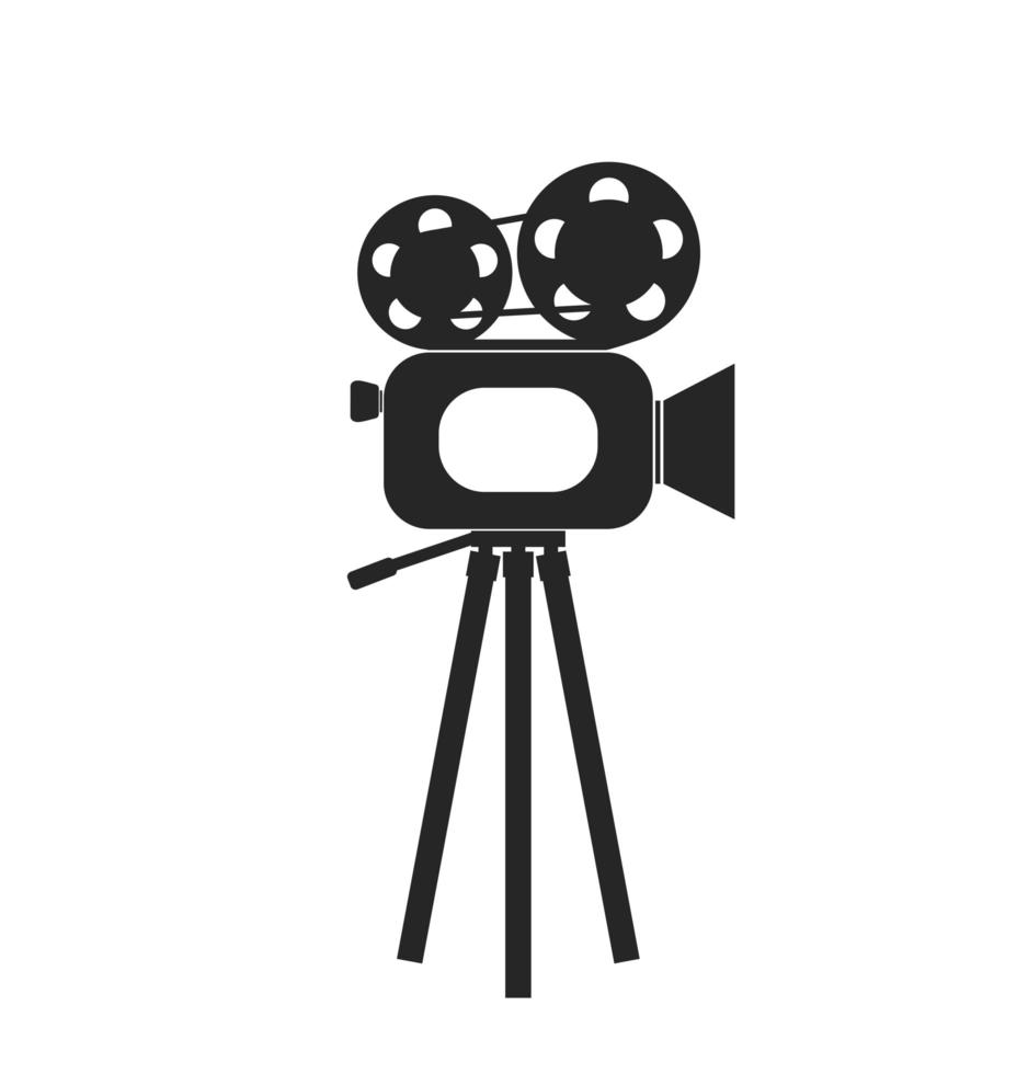 icono de vector de cámara de película de cine retro