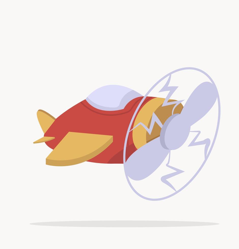 vector de avión de aire de dibujos animados