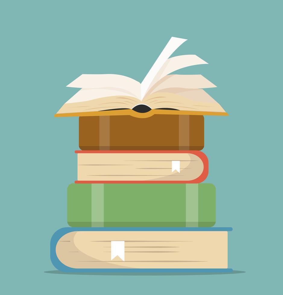 libro de pilas en diseño plano vector