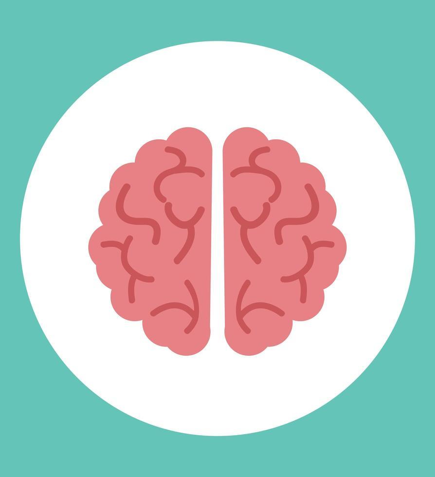 icono de vector de cerebro creativo