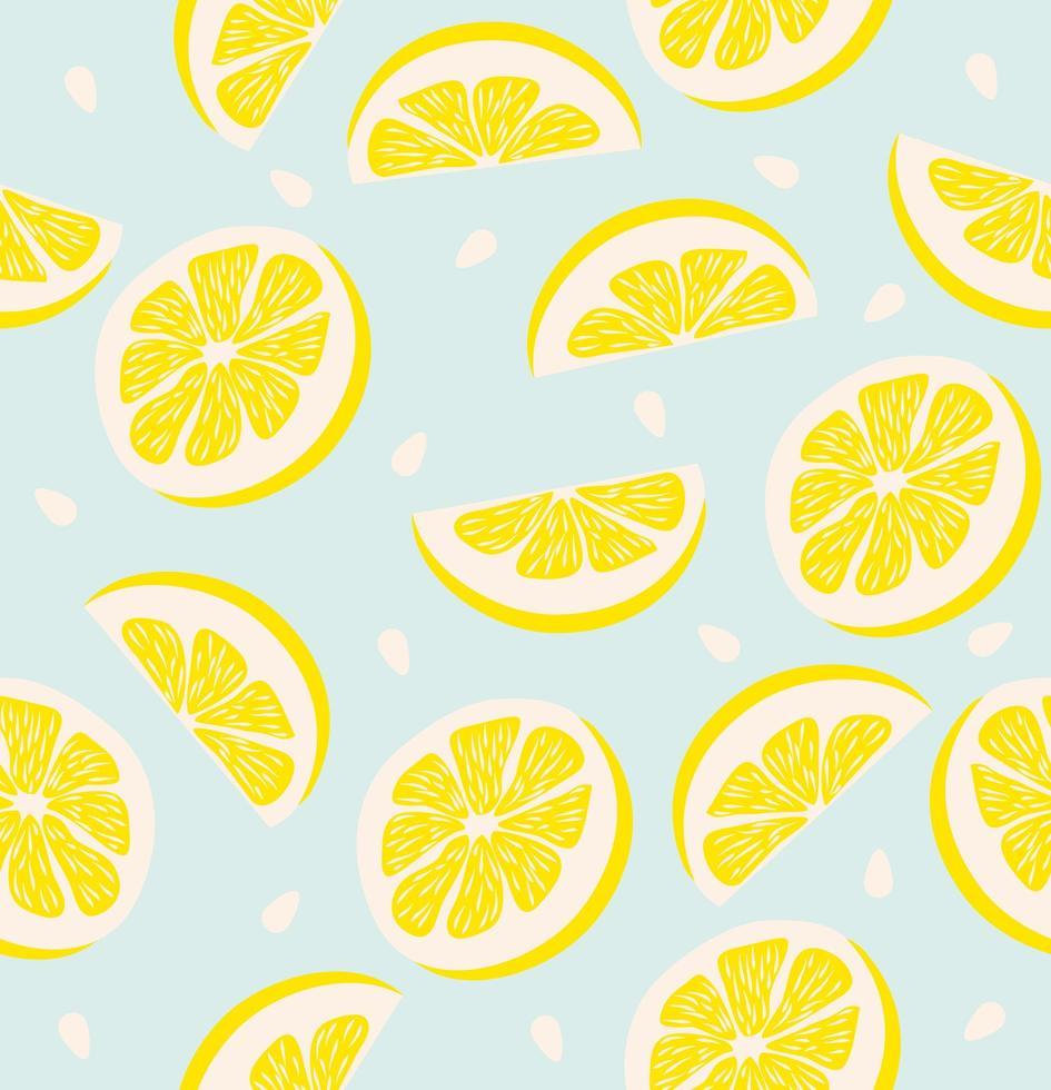 rodaja de un fondo transparente de patrón de limón vector