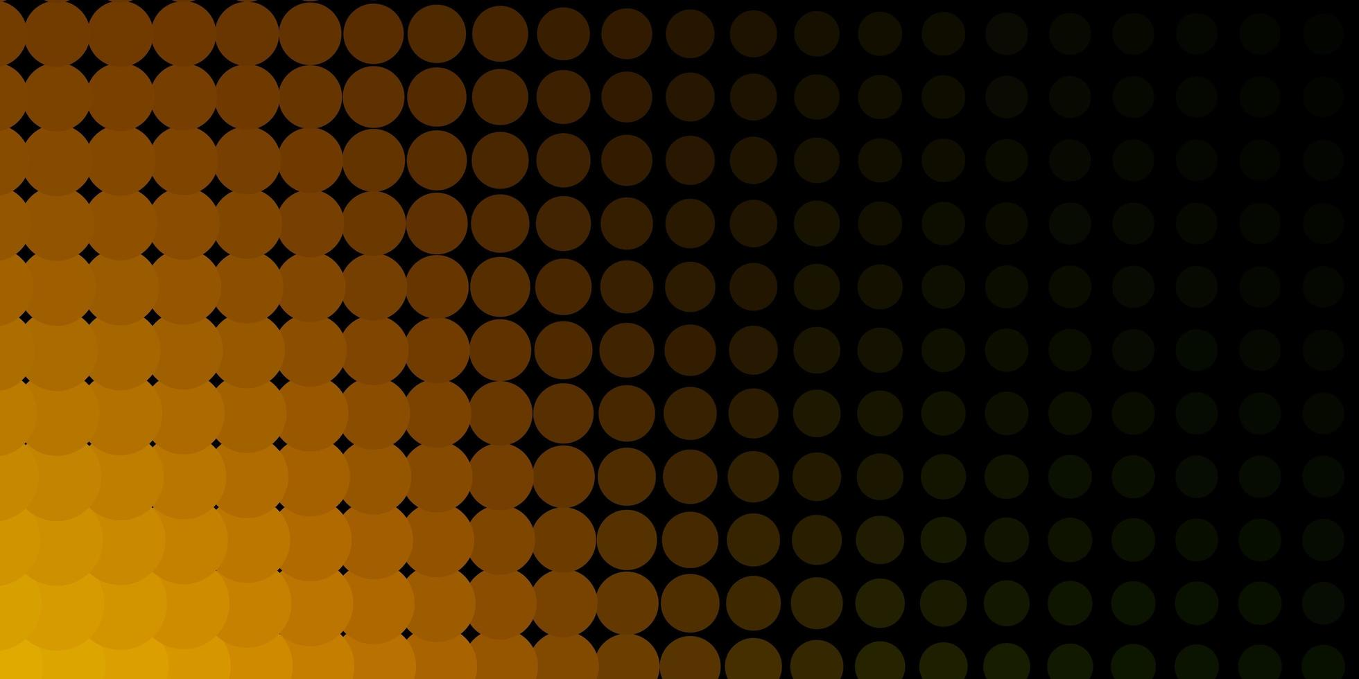 Dark Yellow background with circles. vector