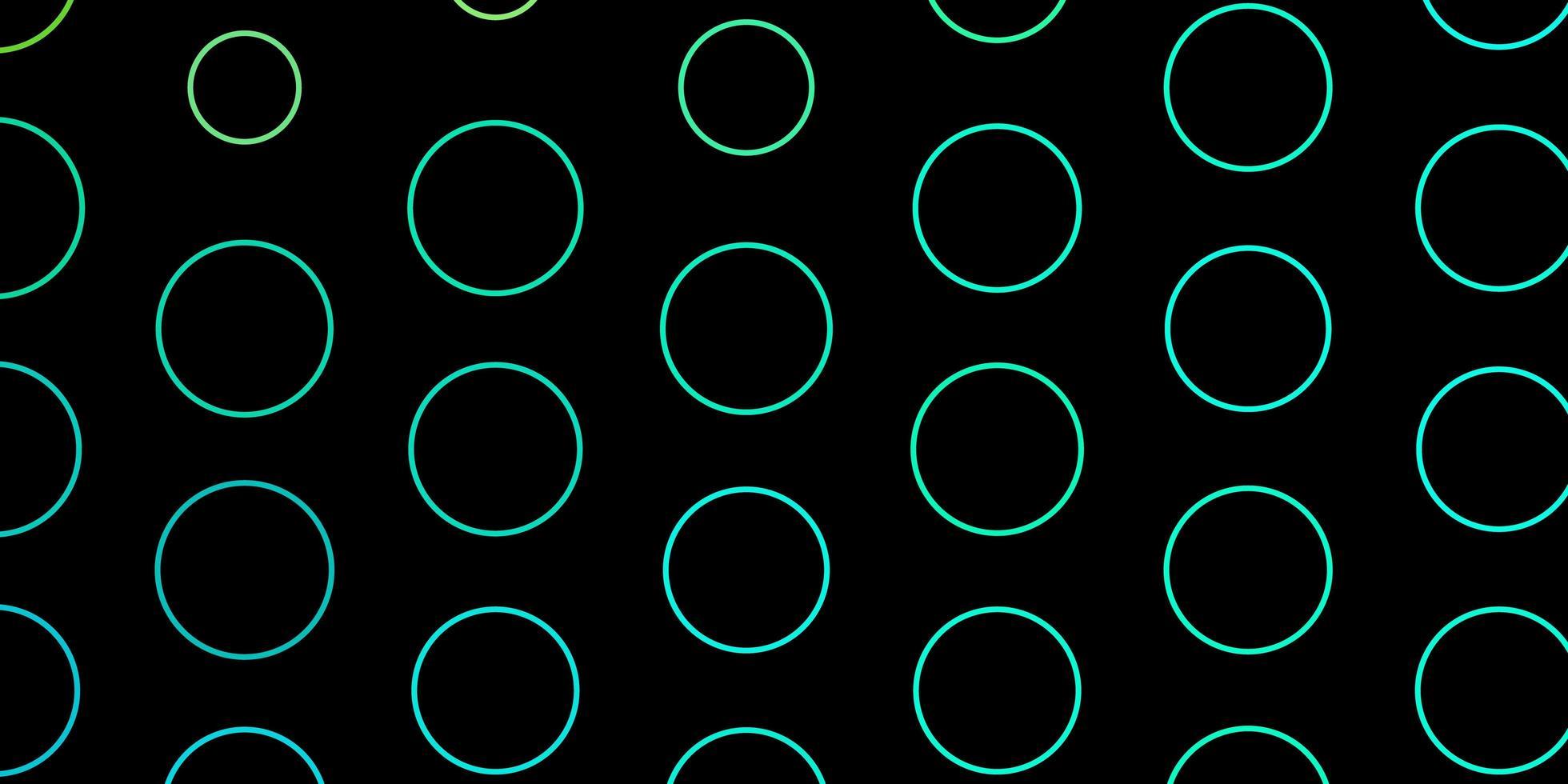 Dark Green layout with circles. vector