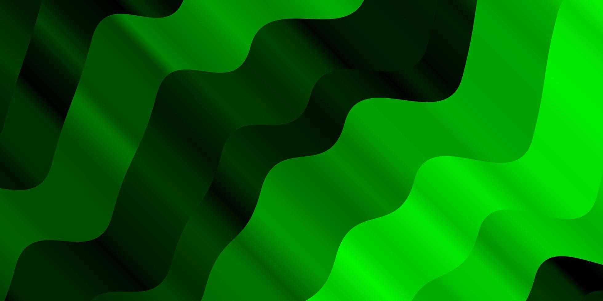 diseño verde claro con curvas. vector