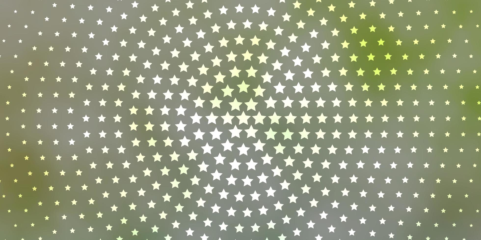 Light Green texture with beautiful stars. vector